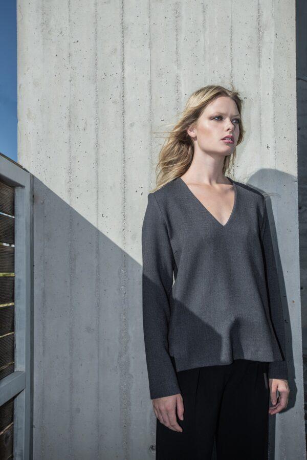 the_line_project_blouse_v neck