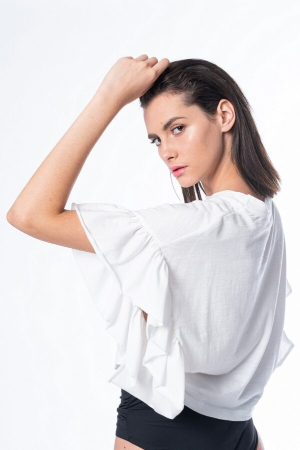 Ruffled cotton t-shirt_SS21 the_line_project