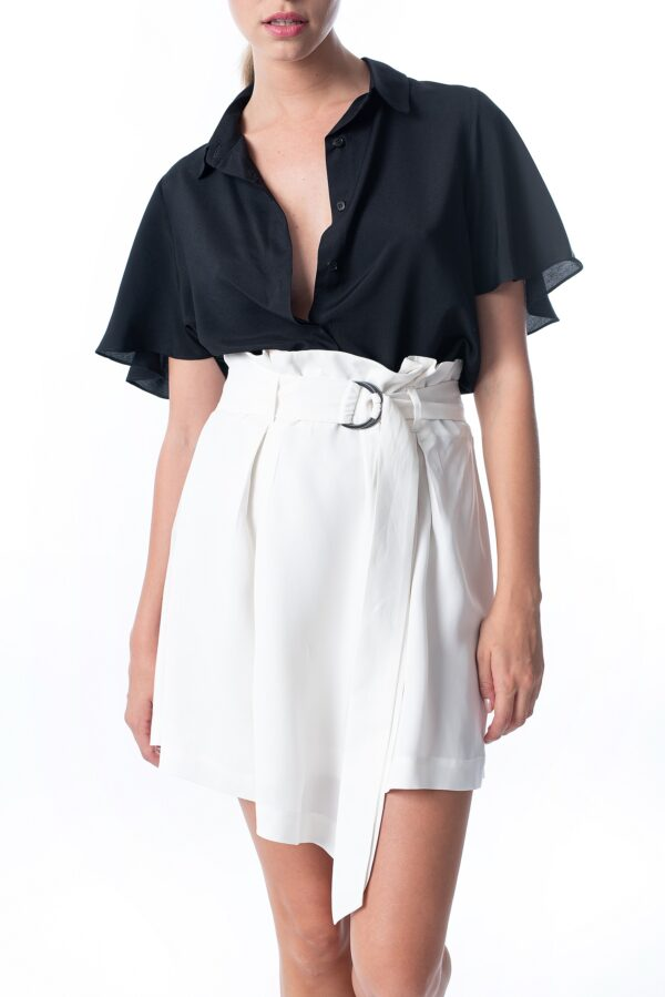 Belted mini skirt_SS21 the_line_project