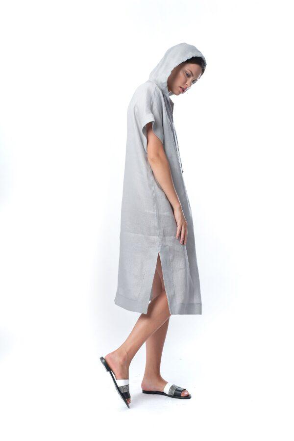 hoody linen dress__SS21 the_line_project