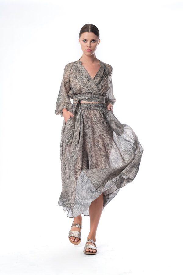 maxi snake skirt_SS21 the_line_project